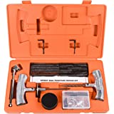 Wynnsky 54 Pieces Orange Speedy Seal Heavy Duty Tire Repair Tools Kit Toolbox