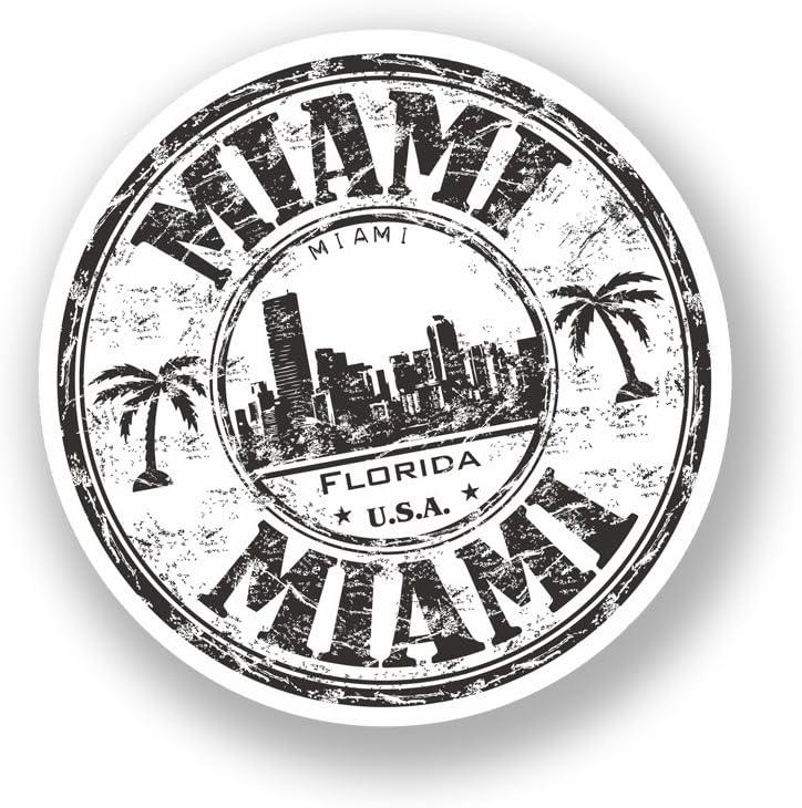 2/x Sticker vinyle en Floride Miami Bagage Voyage USA # 7087-10cm//100mm Wide