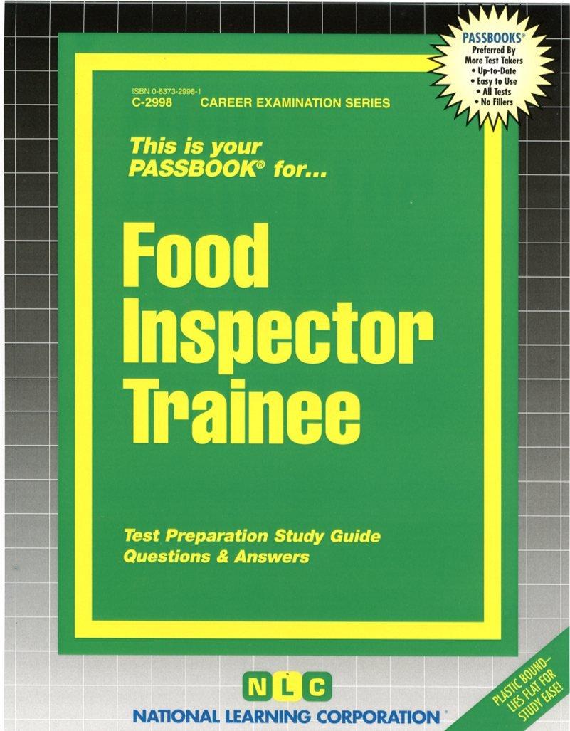 Buy Food Inspector Trainee (Career Examination Series) Book