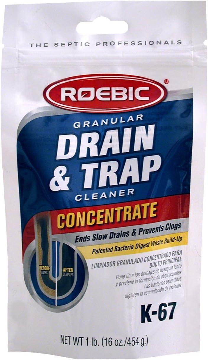 Roebic K-67BAG-16 OZ K-67 BAG-4-16OZ 16-Ounce Biodegradable Granular Drain and Trap Cleaner