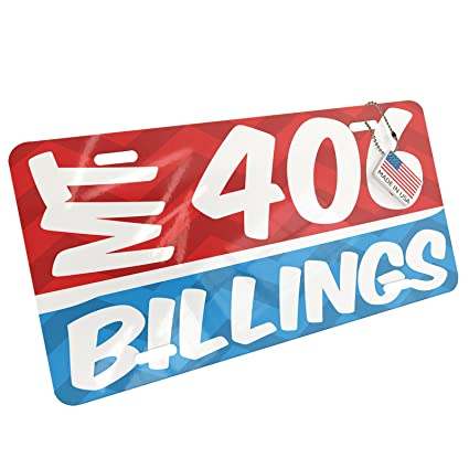 Amazon com: NEONBLOND Metal License Plate 406 Billings, MT
