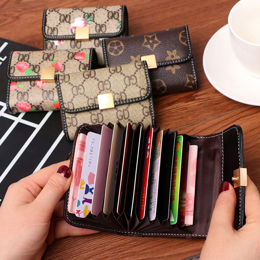 Women Designer Wallet Rfid Blocking Credit Card Holder Wallets Pu Leather Small Accordion Ladies Purse - Brown by Guncore (Image #5)