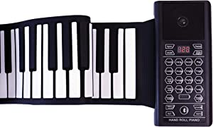 iLearnMusic Roll Up Piano Premium Grade Silicone  THICKENED KEYS   Upgraded Built-in Amplifying Speakers   Portable Piano Keyboard MIDI USB (88 Keys)