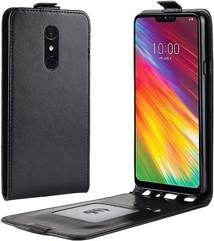 HualuBro Funda LG G7 Fit, Carcasa de Protectora Cuero PU Billetera ...