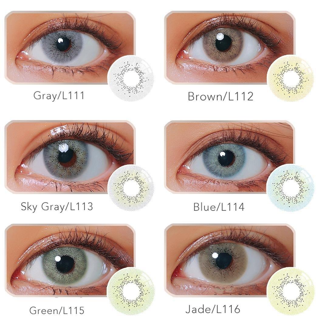 7b8887827ea80e Ncient Lentilles de Contact Colorées Cosmétiques, Lentilles de Couleur  Annuelles - Sans Correction Multicolores pour Femme - L11 (2 Pcss)   Amazon.fr  ...