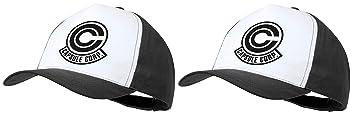 MERCHANDMANIA Pack 2 Gorras Negras Logo Capsule Corp Dragon Ball Cap