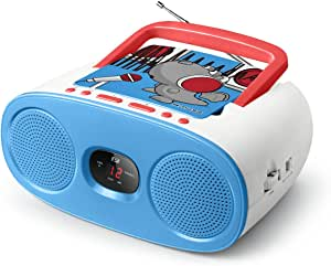 Muse M-20 KDB Analogue - Blue, Red, White - Portable Stereo Systems (Analog, FM,MW, 88-108 MHz, 540-1600 kHz, Reader, CD,CD-R,CD-RW)