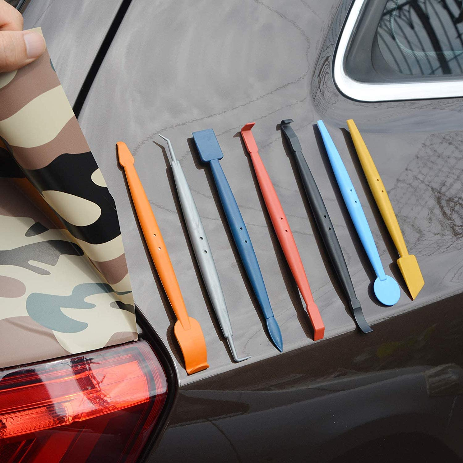 """White Squeegee 4/"""" x 3/"""" Vinyl Wrap Car Vehicle Graphic Application Wrapping Tool"""