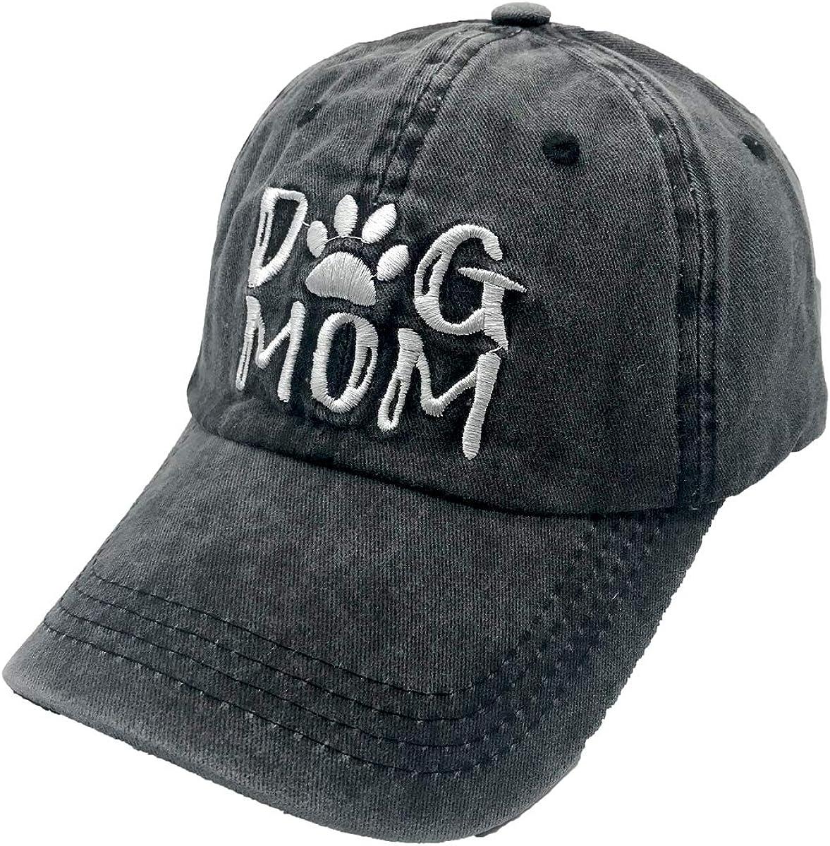 Vintage Baseball Cap Washed Dyed Cotton Dog Mom Adjustable Unisex Dad Hat