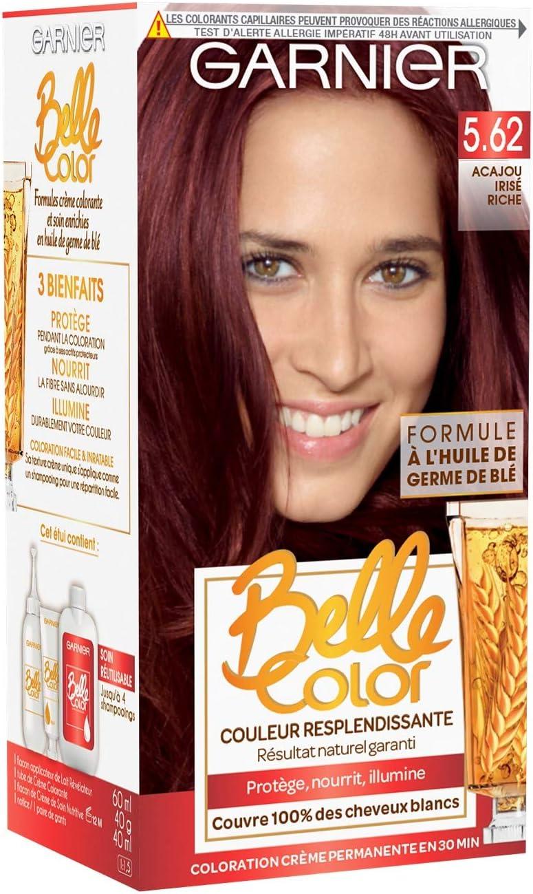 Garnier - Belle color - El color permanente Rouge - 5,62 caoba natural rico iridiscente