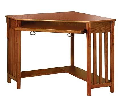 Amazon Com Furniture Of America Athosia Mission Style Corner