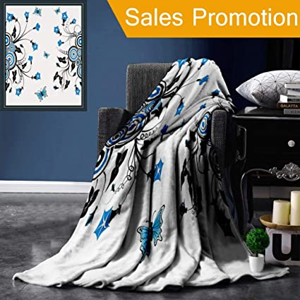 Mesllings Blanket Blankets Soft Flannel Soft Fleece Blanket Bed Throw Lion Animals Black Polyester White 150x200 cm