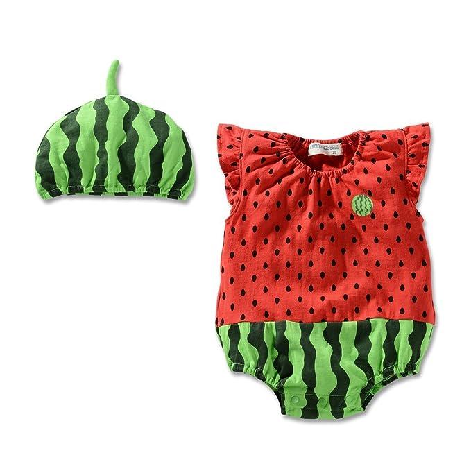 Amazon.com: yanzi6 bebé unisex Frutas Sandía Melón Piña Body ...