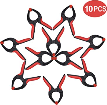 DIY Works and Home Improvement Projects Photography Studios 10 Pack of 4.5 Inch Nylon Spring Clamp Set T TOVIA Anti-Slip Strong Grip Clips for Woodworking