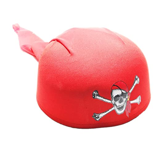 amazon com century novelty deluxe red pirate scarf hat clothing