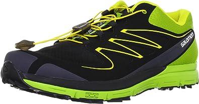 SALOMON Sense Mantra Zapatilla de Running Caballero, Negro/Verde, 41 1/3: Amazon.es: Zapatos y complementos