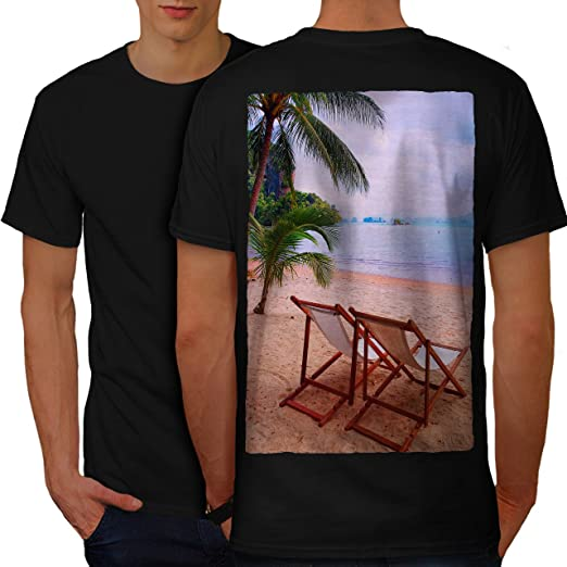 6c29a7d2e60 Amazon.com  wellcoda Nature Summer Vacation Mens T-Shirt