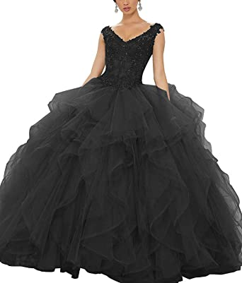 3466d2502 OkayBridal Off The Shoulder V-Neck Beaded Quinceanera Dresses Sweet 16 Lace  Appliques Prom Party