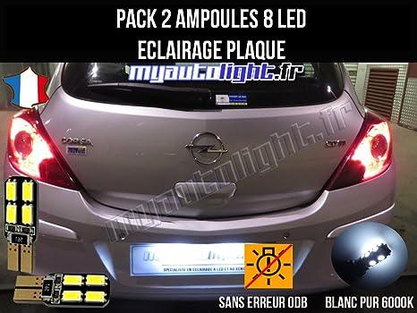 Pack lampadine led illuminazione piano cottura per opel corsa d