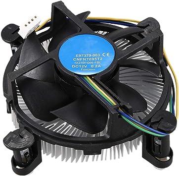 Shumo el Ventilador de la CPU I3I5 Unido Cobre y luminio Es ...