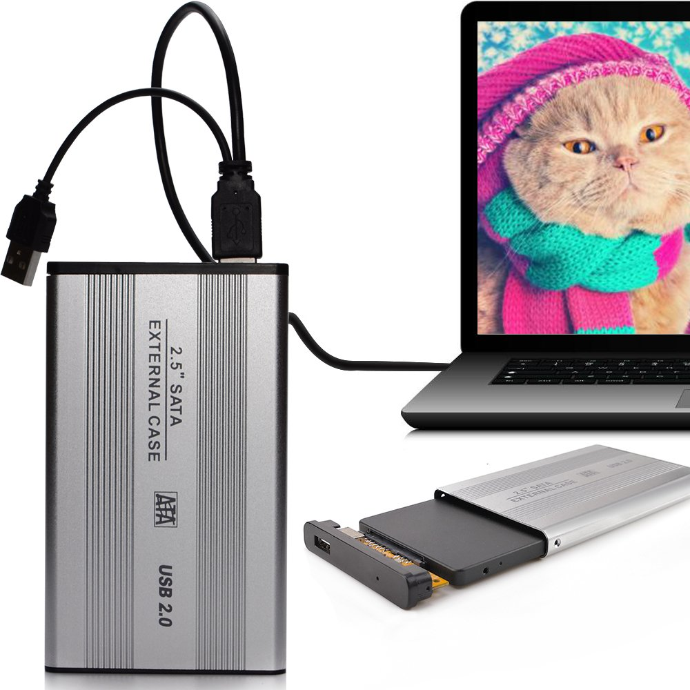 0.53 inch Thickness Portable HDD SSD External Case for 2.5 inch hard drive USB 2.0 to SATA Mobile Hard Disk Drive box