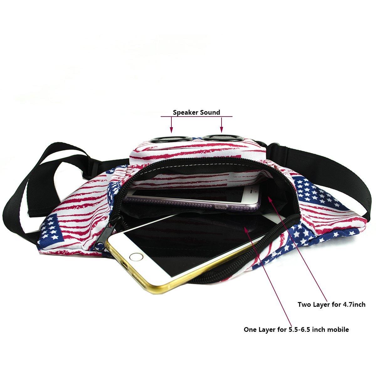 fa0a5db0f0d2 Amazon.com: Xdust Mini Speakers Fanny Waist Pack With Wireless ...
