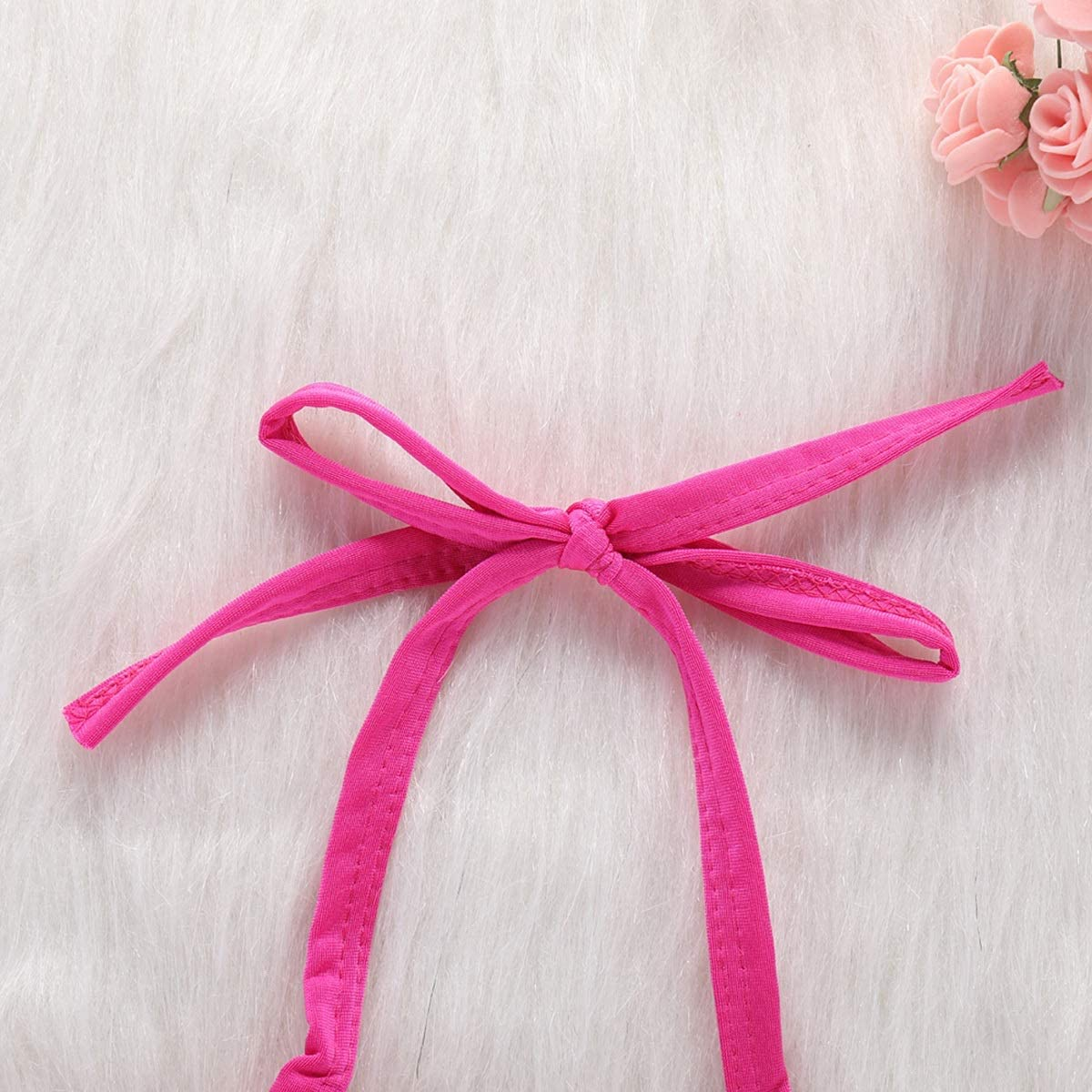 Baby Kids Girls Ruffle Halter Tankini Bathing Suit Swimwear 2pcs