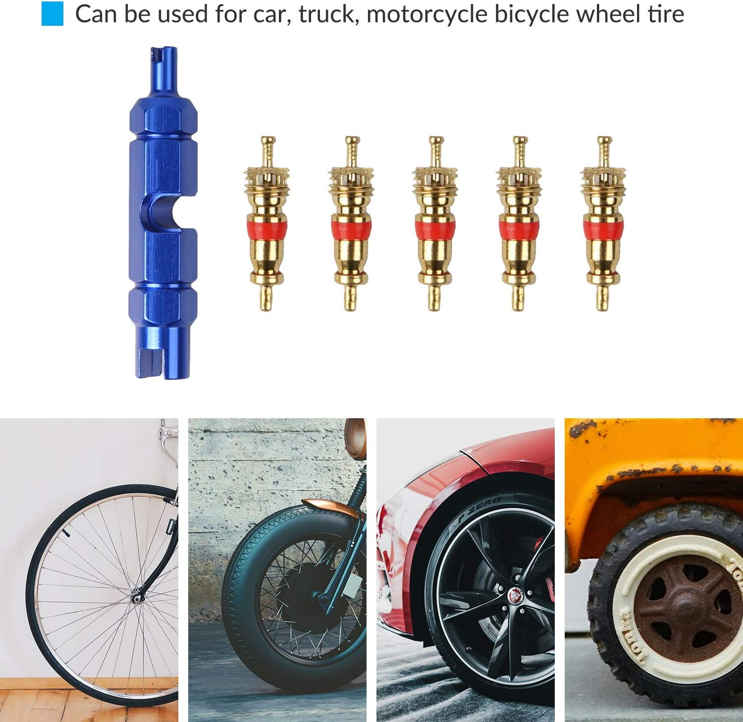 for Valve Core Replacement and Tire Repair YEYIT Bicycle Tire Valve Core Removal Tool for Schrader/& Presta Valve Core Set Screwdriver Disassembly Wrench Repair Tool