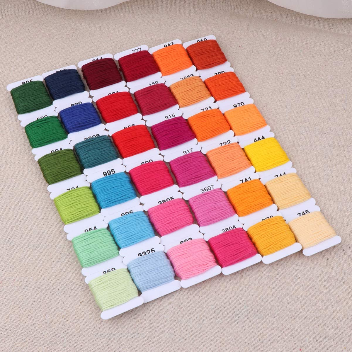 Exceart 72 Colors Embroidery Thread Friendship Bracelet String 72 Pcs Embroidery Floss Weaving Threads for Home Shop