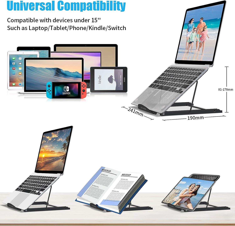 Jparr Laptop Ständer Faltbar Aluminium Alloy Notebook Elektronik
