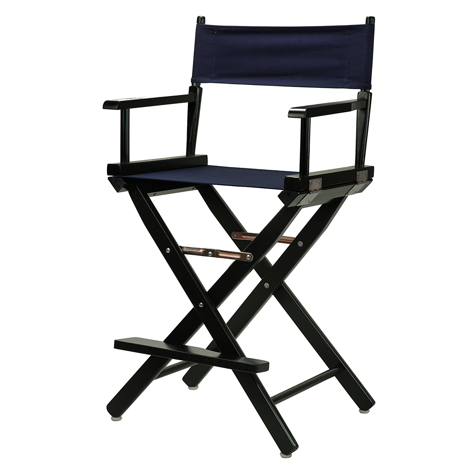 Navy bluee 24-Inch Casual Home 24-Inch Director Chair Black Frame, Hunter Green Canvas