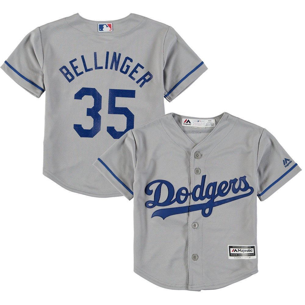 Outerstuff Cody Bellinger Los Angeles Dodgers Gray Youth Cool Base代替レプリカジャージー B07BHW1T26Medium 10/12