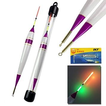 THKFISH Flotadores de pesca, 1pieza 7.8g #2 LED iluminación de madera de Balsa