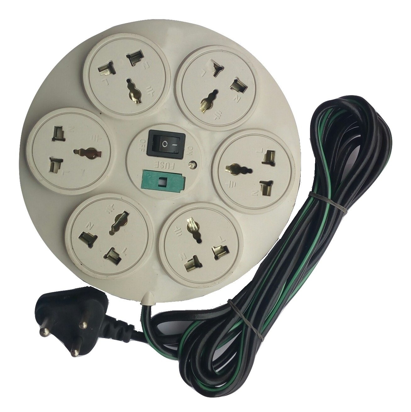 Buy Gadget Deals 360 Degree 6 1 Sockets Power Strip Extension Cord Wiring Plug Board Multi 4yard Online At Low Prices In India