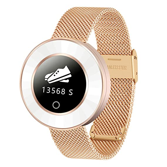 SIHOHAN - Reloj inteligente para mujer, con Bluetooth, IP68, resistente al agua,