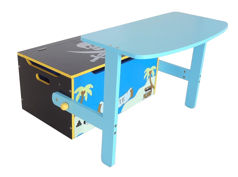Bebe Style PRF1CTB-Blue Verwandelbare Spielzeugkiste + Tischbank + ...