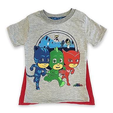 073b3f8c0 Amazon.com: PJMASKS PJ Masks Boys Caped Shirt Catboy, Owlette, Gekko Short  Sleeve Caped T-Shirt (2T): Clothing