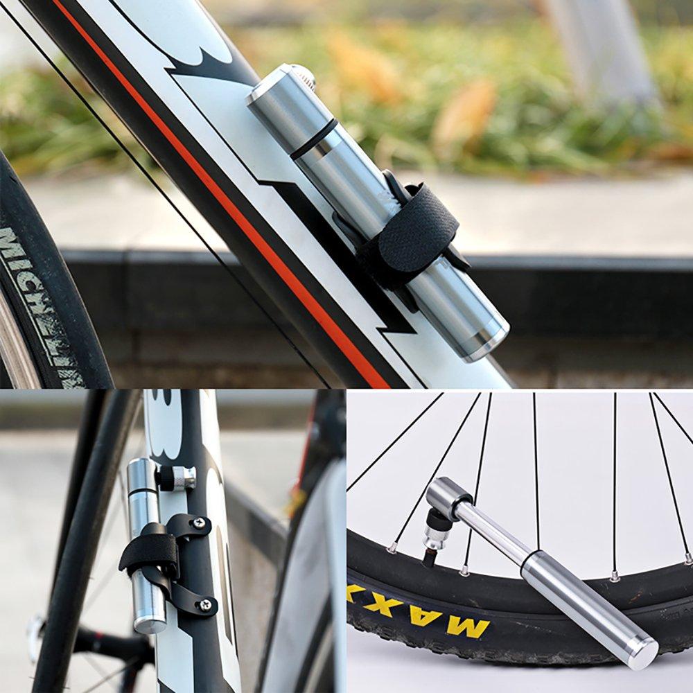 Pompe /à Main pour v/élo Compact et Portable Haute Pression avec Valve Presta /& Schrader Meilleure qualit/é et Performance Pompe /à Pneu pour v/élo Micro avec Support UMIWE Bike Mini Pump