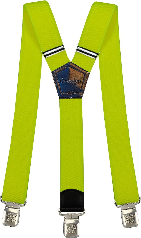 1 Tirantes Elasticos Ajustable Para Pantalones Y Diseno Clip Hombre Mujer Nino Negro Punto Spot Mujer Tirantes