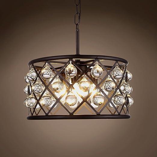 Amazon.com: Aro de cristal con 4 luces de 16 pulgadas gris ...