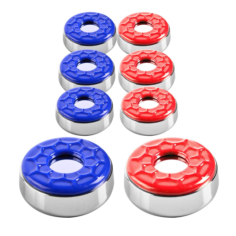 IdealEnjoy Shuffleboard Pucks 2-5/16''(58mm),Set of 8(red&Blue) by IdealEnjoy