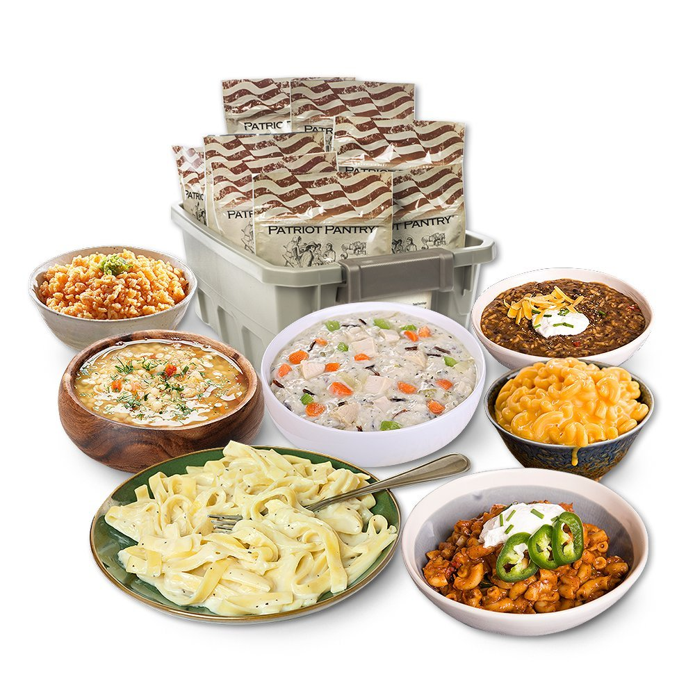 Patriot Pantry Emergency Meals Kit, 48 Emergency Food Servings, up to 25-Year Shelf Life by Patriot Pantry (Image #1)