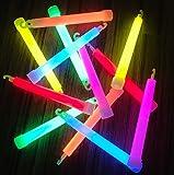 molinoRC | 25x Power Knicklichter Bulk | 150x15 mm Fett und Hell Leuchtstäbe | 6 Farben Öse | Knicklichter Leuchtstäbe | Armreifen Glowstick | Partylichter Neon | Rot Gelb Grün Pink Orange Blau