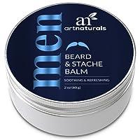 Art Naturals Barba E Baffi Balm E Lasciare In Condizionatore 60ml - 100% condizionata naturale che lenisce Prurito - ispessisce, rafforza, ammorbidisce, Tames e stili viso crescita dei capelli
