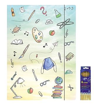 RNK Zeichenmappe Sammelmappe Mappe Schmetterlinge A3 500g Gummizug Zeichnungen