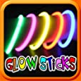HOT GLOW - Neon Glow Sticks - Assorted Colours (Red, Blue, Green, Yellow) - 100 Pcs