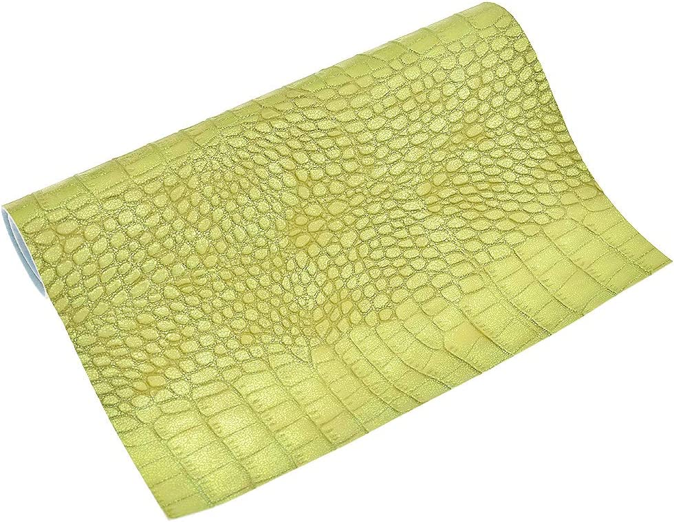 CHZIMADE A4 Stretch Snake Fabric DIY Sheet Canvas Back Great for Hair Bows Making Craft