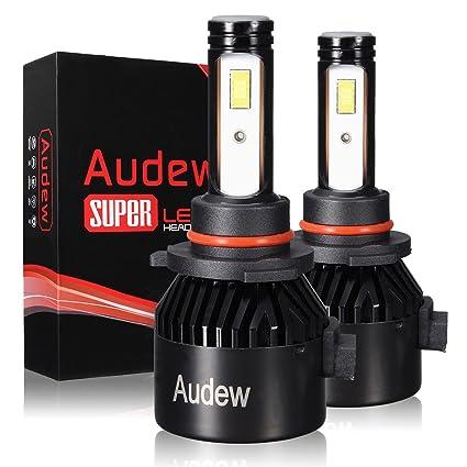 Audew 9006 LED Bombillas Faros Delanteros Bombillas para Coches 36W 6000K 8000LM Lámparas LED Coche Kit de Conversión IP68 Impermeable LED Blanco Frio