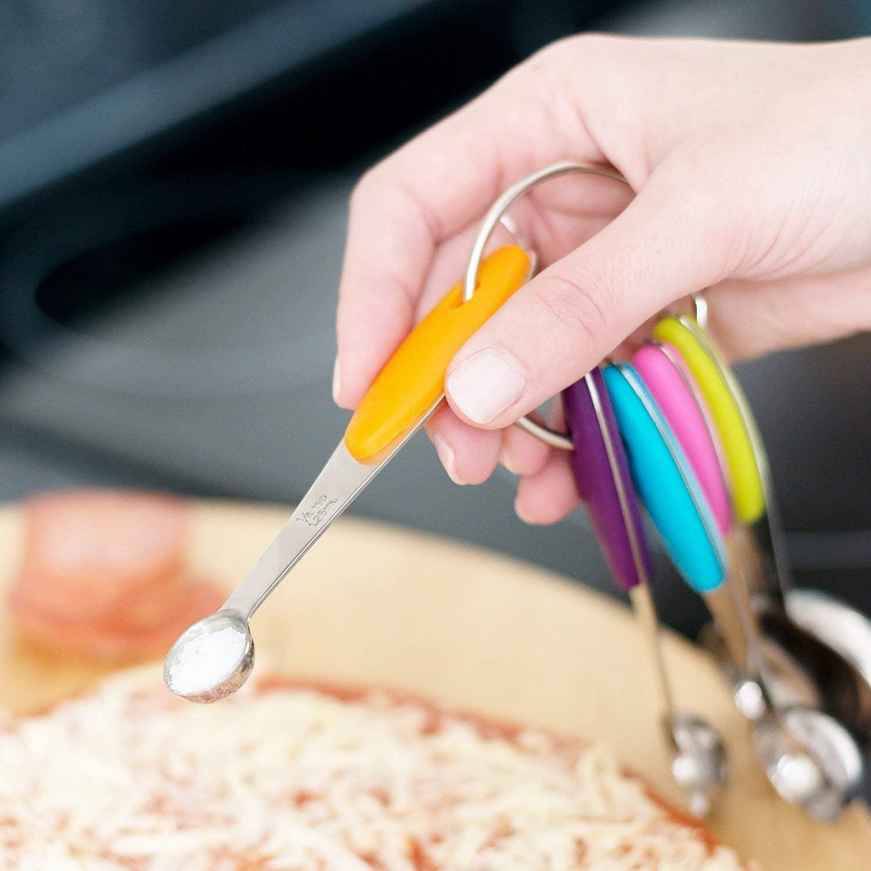 5 Cuill/ères con Manici XINGXINRONG Set di 10 cucchiai dosatori per casa in Acciaio Inossidabile