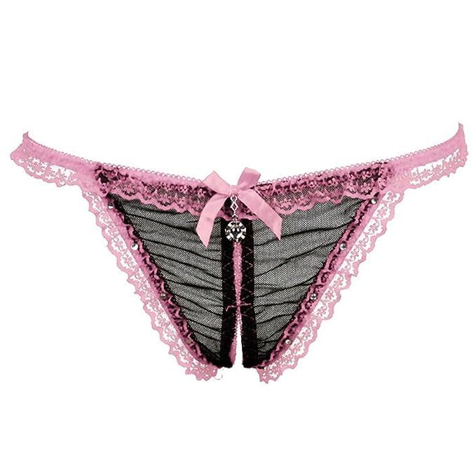 fefa26b7faa Sexy Women Briefs Thong Diamond Lace Panties Lace Panties Crotchless  G-String Underwear Elasticity Girl